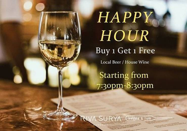 Happy hour  hotel riva surya bangkok
